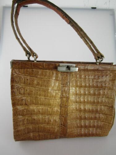 Echt Kroko Tasche Tasche aus echt Croco  Handtasche Kroko Croco Vintage TK1V-001