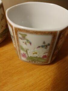 Saki-for-TWO-Lotus-Flower-Handleless-Cups-Asian-Porcelain