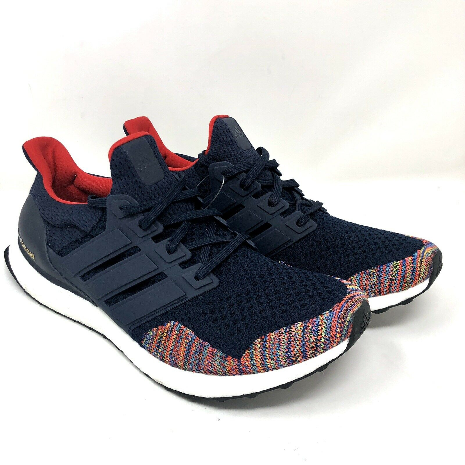 Adidas Ultra Boost LTD Mens Size 12 Collegiate Navy Vibrant Red Multi color Toe