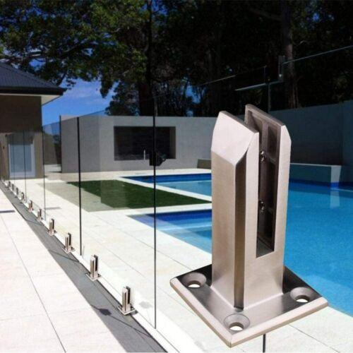 Glashalter Glasklemme Edelstahl Geländer Glasklemmhalter Glaspunkthalter 8-12mm