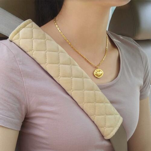 Soft Pads Cover Crystal Velvet Car Seat Belt Shoulder Cushion Harness Pad New QP