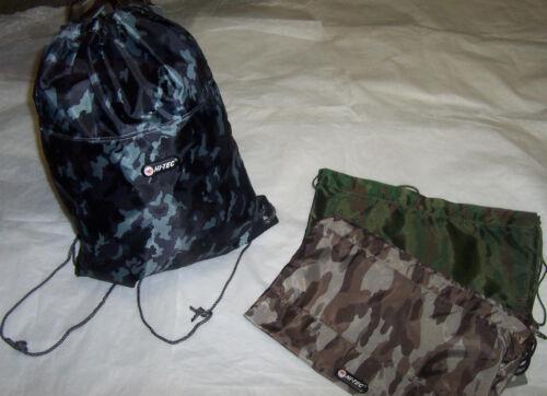 Grey or Brown Hi-Tec Pump Bag Camouflage Green