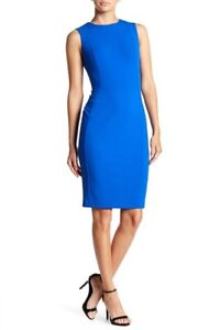 Calvin-Klein-NWT-Elegant-Capri-Crepe-Sleeveless-Sheath-Work-Dress-4-6-10-12-14