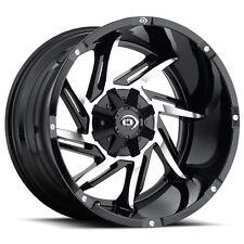 "Vision 422 Prowler 20x12 5x114.3/5x127 5x4.5""/5x5"" -51mm Black/Machine Wheel Rim"