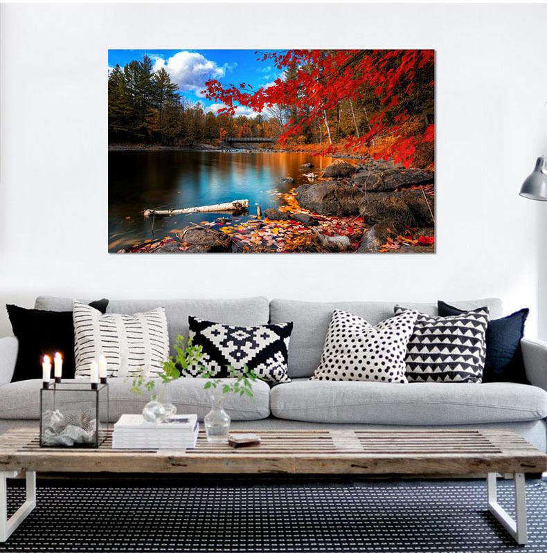 3D Fluss Baum 565 Fototapeten Wandbild Fototapete BildTapete Familie AJSTORE DE
