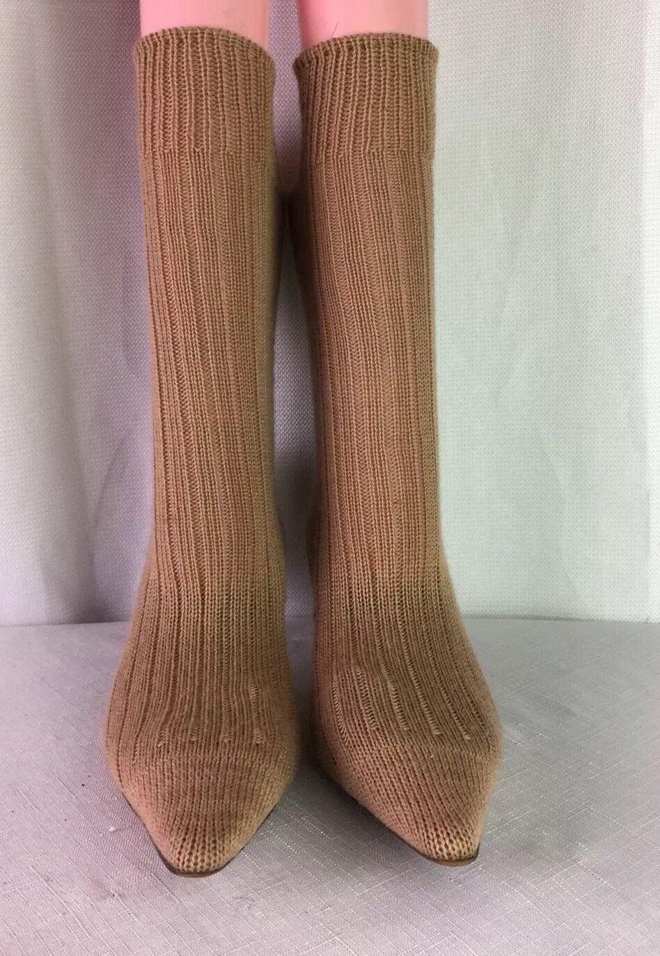 Paul Smith femmes For Emma Hope,Tan,Knit Sock  Leather Ankle démarrage SZ 35 1 2-U S 5