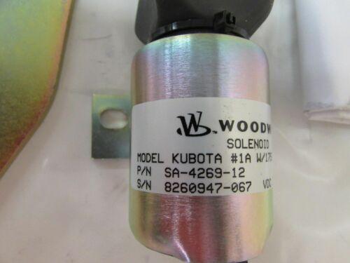 GENUINE KUBOTA FUEL SHUT OFF SOLENOID  SA-4269-12 KUBOTA 1753ES KIT SUPER MINI/'S