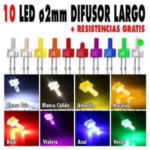 10x-Diodos-Led-2mm-difusor-largo-resistencias-tutorial-Escoge-color