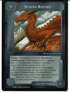 MIDDLE EARTH THE THE LIDLESS EYE RARE CARD IRON HILL DWARF-HOLD grade 8//10