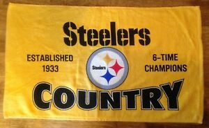 Myron-Cope-039-s-Pittsburgh-Steelers-Country-Terrible-Towel-Rare-BRAND-NEW