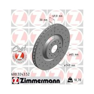 2x ZIMMERMANN Disque de frein VW Golf VII 5g1 Be1 Passat CC 357