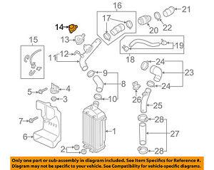 Details about HYUNDAI OEM 13-16 Veloster 1 6L Turbo Turbocharger  Intercooler-Valve 282342G420