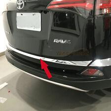 Fit For Toyota RAV4 2016 2017 Chrome Rear Trunk Lid Tailgate Bottom Cover Trim
