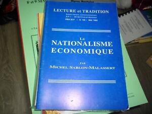 """""""Le nationalisme économique"""" de Michel Sarlon-Malassert - France - État : Occasion: Objet ayant été utilisé. Consulter la description du vendeur pour avoir plus de détails sur les éventuelles imperfections. ... - France"""