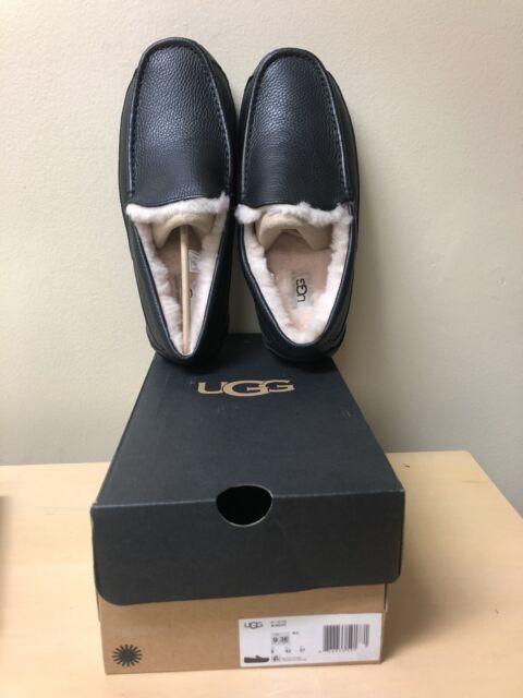 Ascot Slipper Black Leather,11 3E