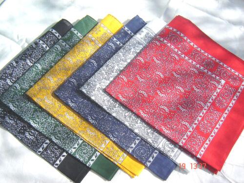 Nikituch Set2x Schnupftuch Halstuch Stirnband 55cm Baumwolle Bikertuch 6 Farben