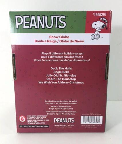 NIB Musical Plastic SNOW GLOBE Peanuts ICE SKATING SNOOPY /& WOODSTOCK Waterless