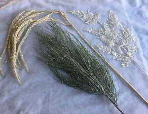 Long-Stem-Glitter-Artificial-Glitter-Fir-Fern-Catkin-Christmas-Decoration