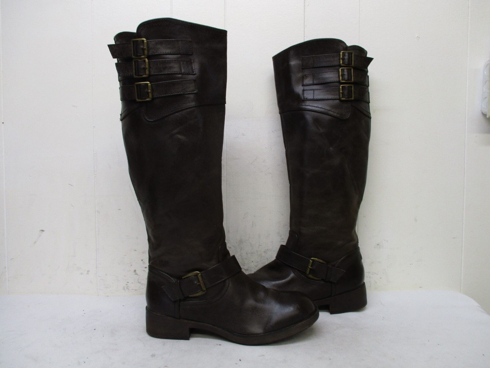 MADDEN GIRL Lolly Brown Boots Knee High Zip Riding Boots Brown Womens Size 7.5 M 5b8f3e