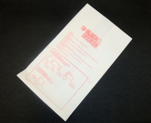 244111-00 Black /& Decker UV200 UV800B UV1000B GV-150-B Vacuum Filter Bag