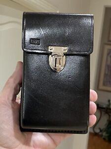 HP-65-67-Calculator-Hard-Black-Leather-Field-Case-Super-Rare-amp-Mint