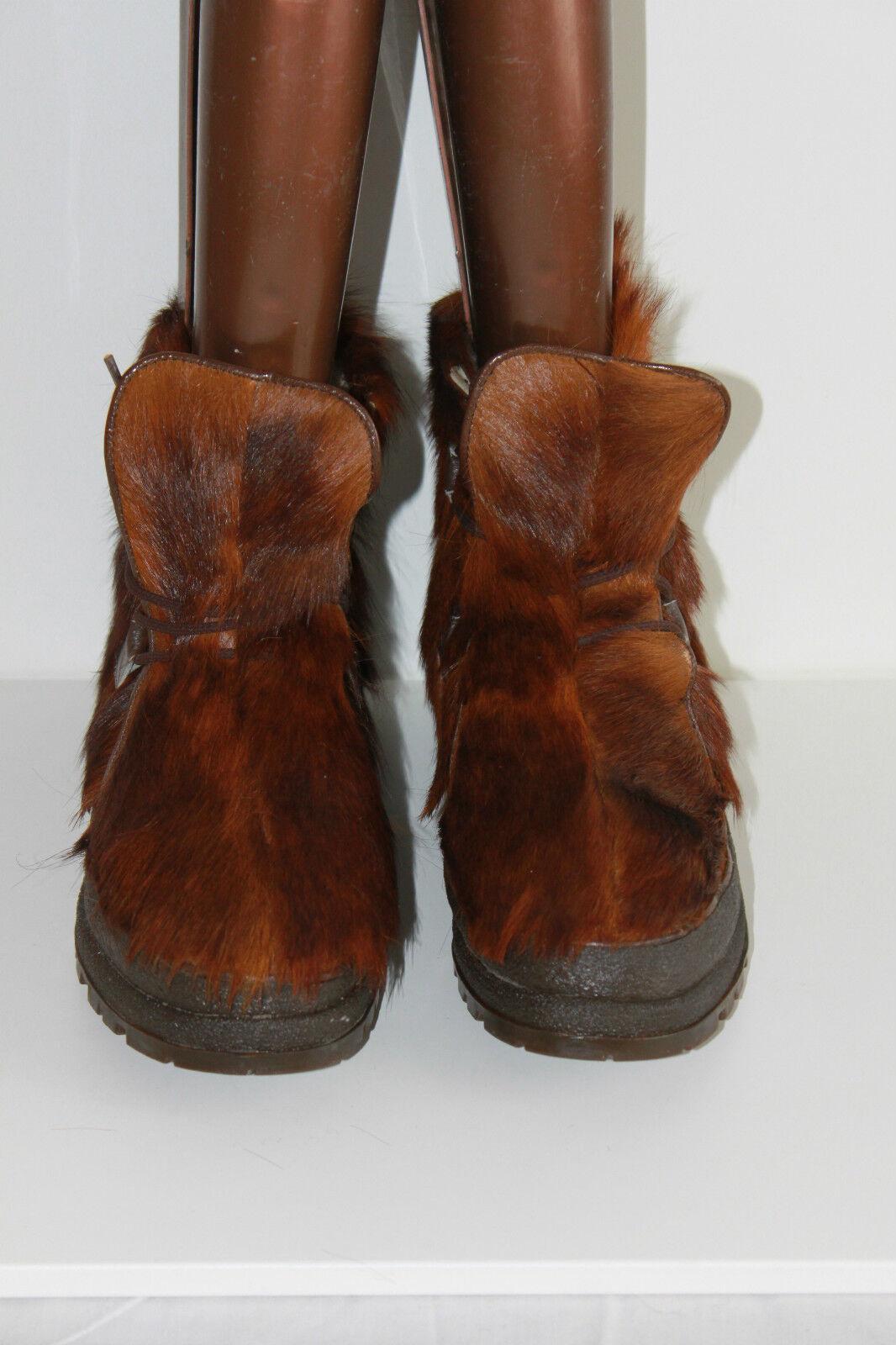 VINTAGE Boots Stuffed VALLOIRE VALLOIRE VALLOIRE Fur Goatskin T 41 VERY GOOD CONDITION 0b74a1