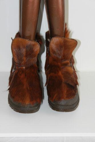 Chèvre Vintage Fourrure 41 Valloire Boots Fourrées Tbe T CwCTq1vz