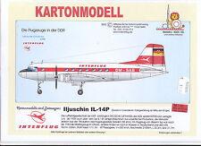 MDK-Verlag 4028/50 - Kartonmodell - Iljuschin IL-14 P- Interflug - 1:50 - 62cm