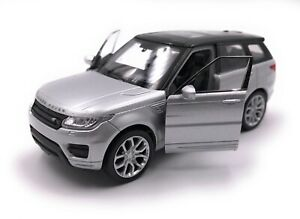Model-Car-Range-Rover-Sport-SUV-Silver-Car-Scale-1-3-4-39-Licensed
