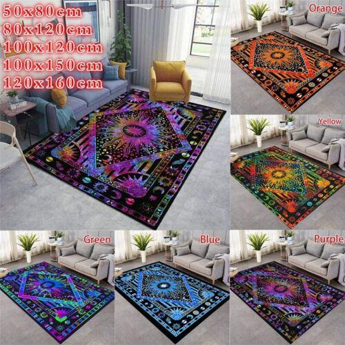 Moon Mandala Carpet Area Rugs for Living Room Bedroom Room Floor Mats Throw Rug