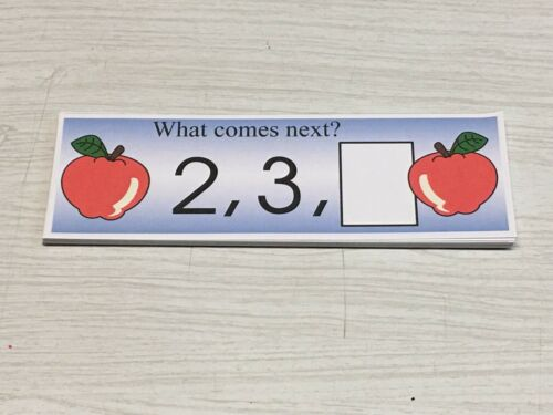 Numbers Teaching Supplies Laminated Activity Set Apple
