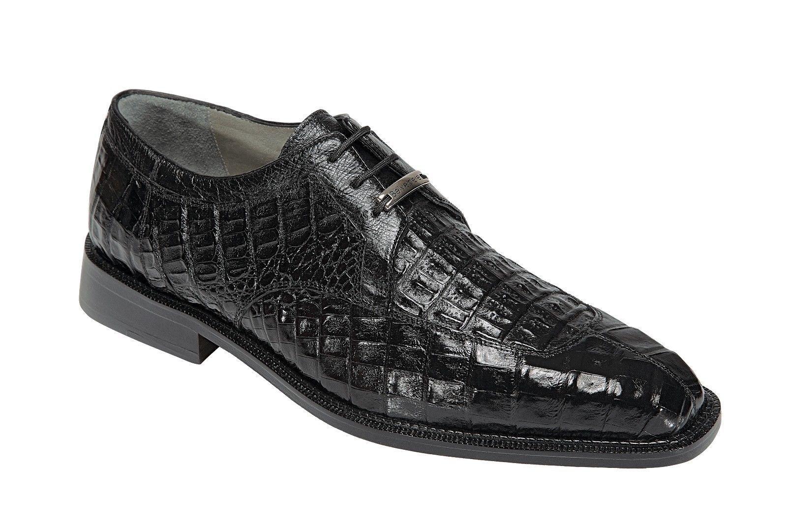 Belvedere Mens shoes Susa Genuine Crocodile Black P32