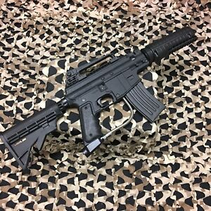 USED-Tippmann-Alpha-Black-Elite-Project-Salvo-Paintball-Gun-NO-Barrel-Black