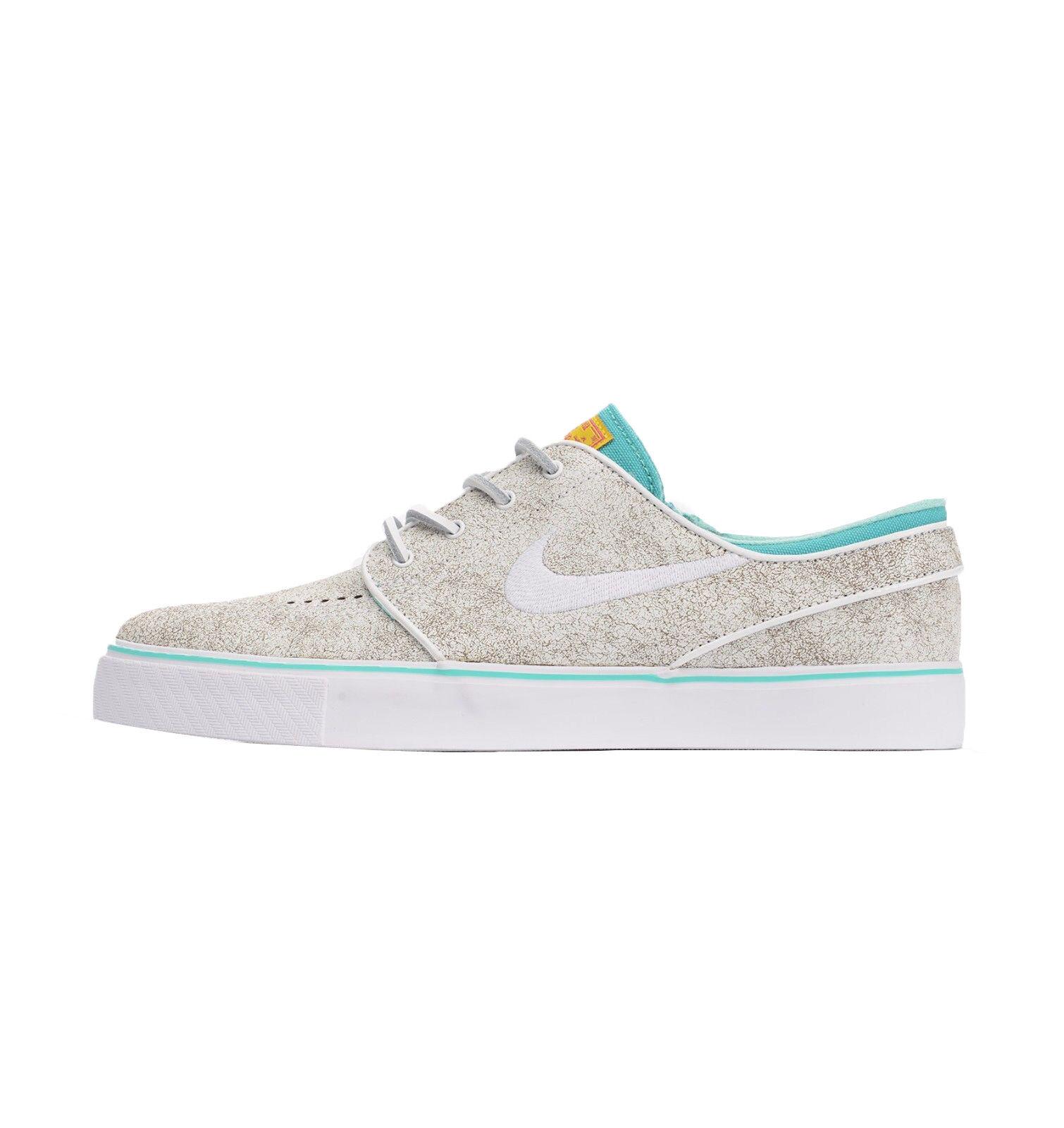 Nike ZOOM STEFAN JANOSKI ELITE White Black Hyper Jade Discounted (549) Mens Shoe