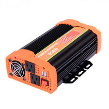 800W Power Inverter DC 12V to AC 110V Car Adapter with 2.1A 2 USB Charging