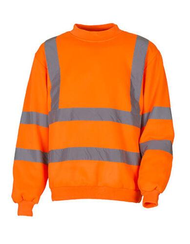 YOKO YK510 Hi-Viz Warnschutz Sweatshirt Arbeitspullover Berufspullover Freizeit