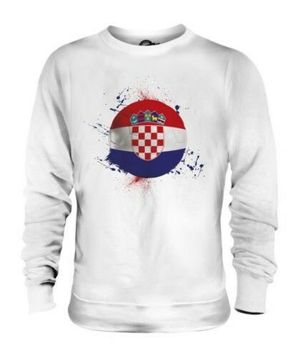 Croacia Fútbol Unisex Suéter Regalo Top Copa Del Mundo Deporte