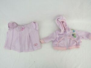 Zapf Creation Baby Annabell clothes outfit hoody & top pink doll clothes M1