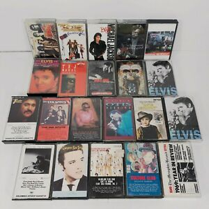 Large-Lot-of-21-Vintage-Rock-Pop-Soul-Blues-80-039-s-Cassette-Tapes-Elvis-Stray-Cats