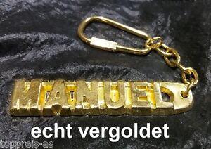 Begeistert Edler SchlÜsselanhÄnger Manuel Vergoldet Gold Name Keychain Weihnachtsgeschenk Sonstige