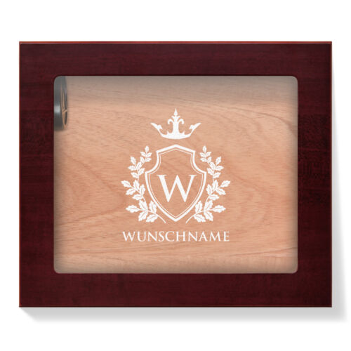 Angelo Humidor Glasdeckel individuelle Gravur 25 Zigarren Geschenk Motiv wählbar