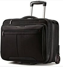 """Samsonite 17"""" Rolling Laptop Case Wheeled Mobile Padded Briefcase Office NEW"""