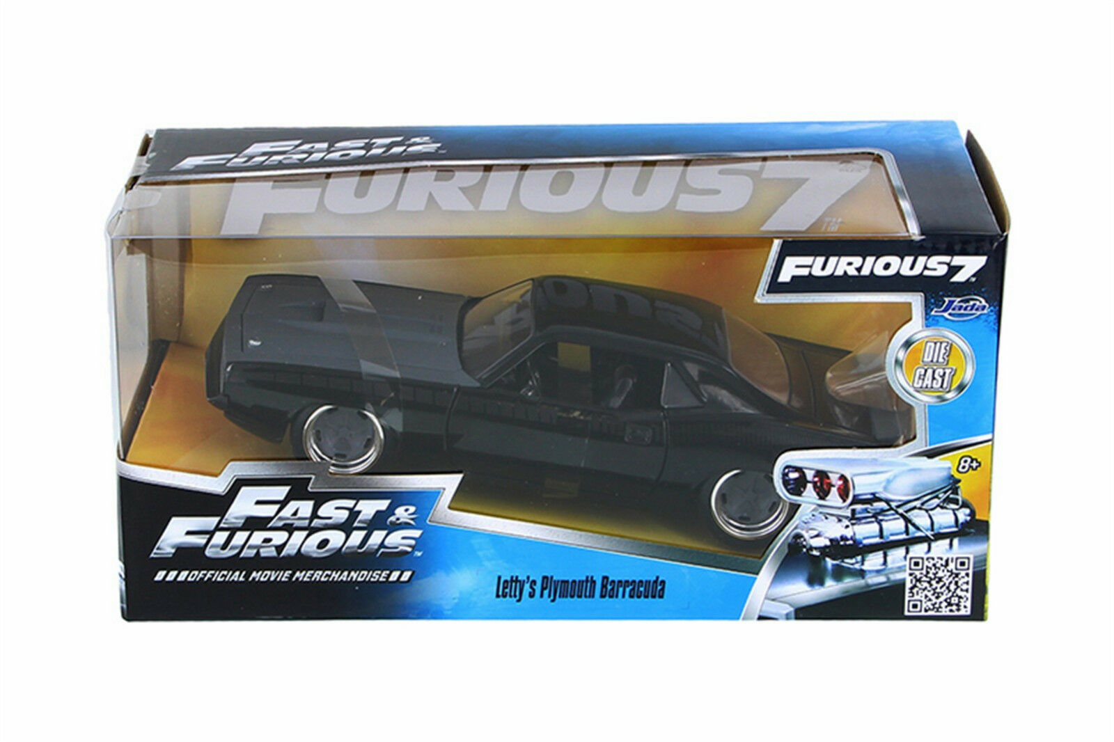 FAST & FURIOUS 7 Lettys Plymouth Barracuda 1 24 SCALE DIECAST OPENING FEATURES