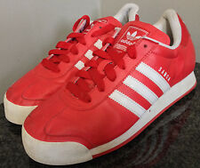 Adidas Men's / Boys size 7 Samoa Red Leather Skateboard Shoes Sneakers~119