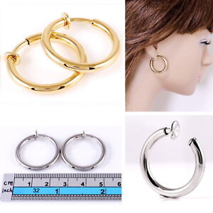 Image Is Loading E121f 1 034 Spring Clip On Thick Hoop