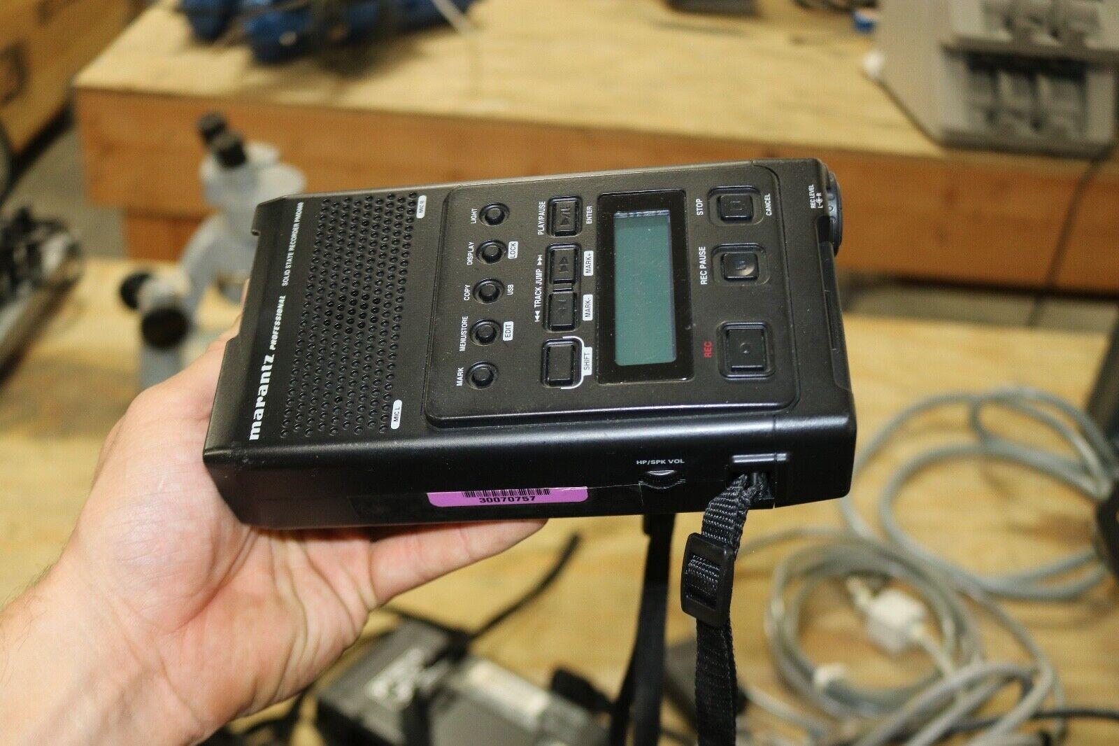 Marantz PMD660 Handheld Digital Voice Recorder WORKING
