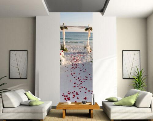 Stickers lé unique décoration murale Pétales plage mariage réf 2071
