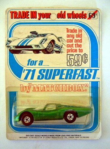 Matchbox SF Nr.45A Ford Group 6 grün rare  Trade In..  Blisterkarte