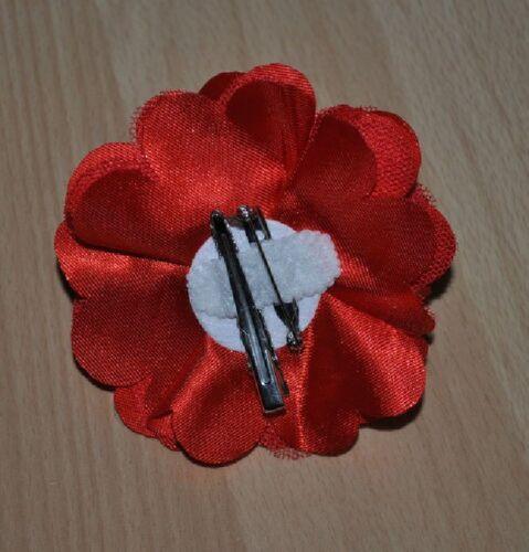 Tul satén flor floración pelo clip seidenblume pelo paréntesis bouquet pelo joyas