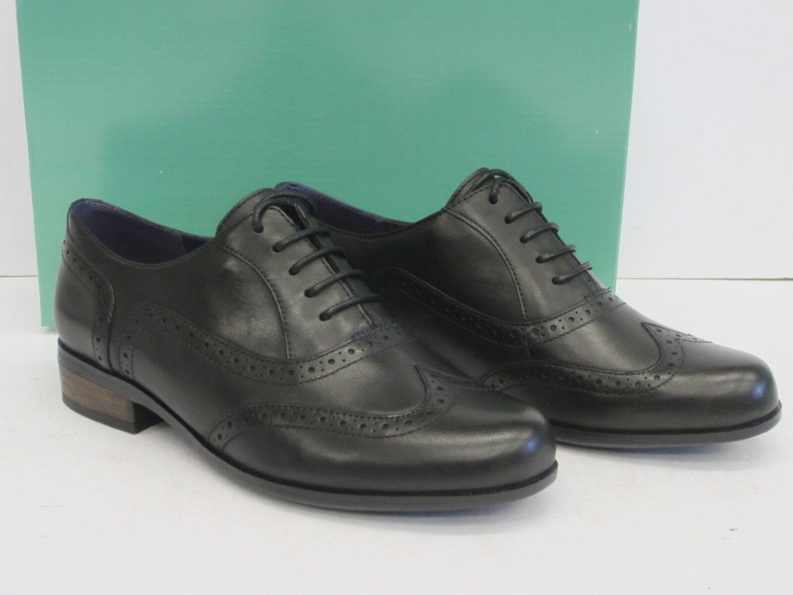 Ausverkauf Clarks Damen Brogues Stil Schuh' Hamble Eiche 'Schwarzes Leder